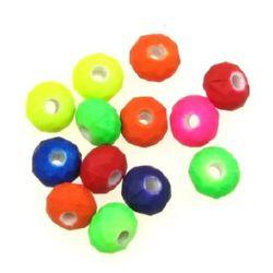 Margele pastel abacus 8x6 mm gaură 1,5 mm mix culoare  electric -50 grame ~ 250