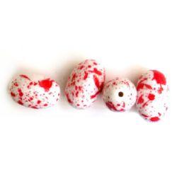 Bila forma de ou  culoare roșie 24x16 mm -50 grame