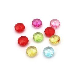 Χάντρες κρύσταλλο 10x7 mm τρύπα 1 mm ΜΙΞ -50 γραμμάρια ~ 130 τεμάχια