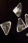 Χάντρα απομίμηση κρύσταλλο τρίγωνο 10x6mm Τρύπα 1,5mm Διαφανές -50 γραμμάρια ~ 420 τεμάχια