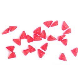 Кристал кристал триъгълник 10x6 мм червено -50 грама