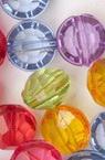 Perla forma  șaibă de cristal 7x10mm gaură 1mm mix -50 grame ~ 130 bucăți