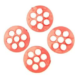 Χάντρα απομίμηση κρύσταλλο 28x5 mm 7 τρύπα 6 mm διαφανές κόκκινο -50 γραμμάρια