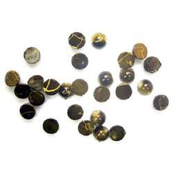 Мънисто златна нишка полусфера 8 мм зелено -20 грама
