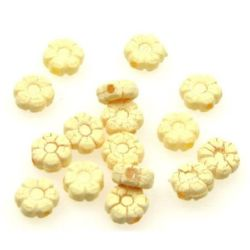 Χάντρα λουλούδι κρακελε 9 mm - 50 γραμμάρια