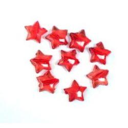 Χάντρα απομίμηση κρύσταλλο αστέρι 9mm κόκκινο -50 γραμμάρια
