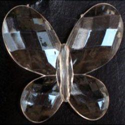 Margele  fluture de cristal 45 mm fațetată MIX -50 grame