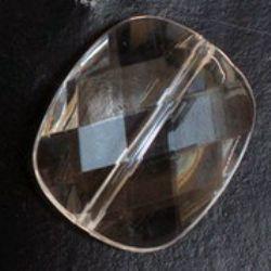 Dreptunghi  cristal  margele 30x25 mm transparent cu pereți multipli -50 grame