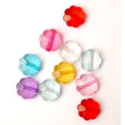 Мънисто кристал цвете 12 мм МИКС -50 грама