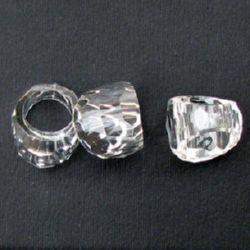 Мънисто кристал правоъгълен 8x13x6 мм МИКС -50 грама