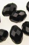 Χάντρα απομίμηση κρύσταλλο οβάλ 10x7mm τρύπα 2mm μαύρο -50 γραμμάρια ~ 166 τεμάχια