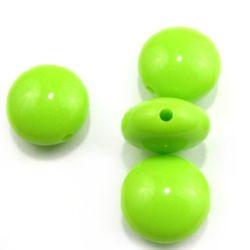 Овал сплескан 17 мм светло зелен -20 грама
