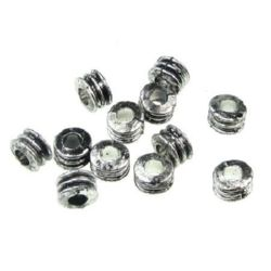 Bead metallic washer 5x7 mm hole 3 mm color silver -50 grams ~ 450 pieces