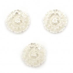 Floare de perle 20x7 mm gaură 2 mm culoare crem -20 grame ~ 20 bucăți