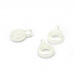 Κρεμαστό απομίμηση μαργαριτάρι 12x8 mm τρύπα 2 mm -20 γραμμάρια ~ 198 τεμάχια