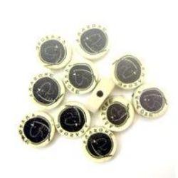 Modelin figurina - monedă Fimo  1 mm 21 -10 bucăți