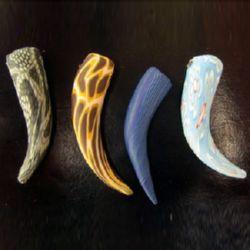 Рог Фимо 4 мм цветни -1 брой