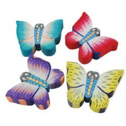 Пеперуда фимо 20x15x6 мм дупка 3 мм цветна -10 броя ~16 грама