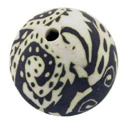 Фигурка моделин Fimo топче 16 мм дупка 2 мм -5 броя