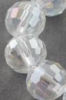 Șir de mărgele de cristal multifacetate 8mm Gaură 1mm Arc galvanizat ~ 72 bucăți