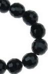 Наниз мъниста кристал многостен 8 мм дупка 1 мм черен ~72 броя