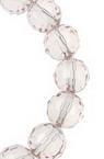 Șireturi Mărgele de cristal multifacetate 8mm Gaură 1 mm Roz transparent ~ 72 bucăți