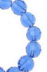 Șireturi Mărgele de cristal multifacetate 8mm Gaură 1mm Transparent albastru închis ~ 72 bucăți