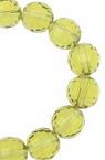 Șireturi Mărgele de cristal multifacetate 8mm Gaură 1mm Galben transparent ~ 72 bucăți