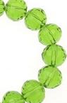 Наниз мъниста кристал многостен 8 мм дупка 1 мм прозрачен зелен ~72 броя