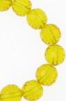 Șireturi Mărgele de cristal multifacetate 8mm Gaură 1mm Portocaliu transparent ~ 72 bucăți