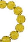 Наниз мъниста кристал многостен 10 мм дупка 1 мм прозрачен цвят злато ~72 броя