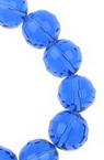 Наниз мъниста кристал многостен 10 мм дупка 1 мм прозрачен син тъмно ~72 броя