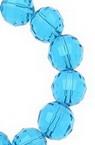 Наниз мъниста кристал многостен 10 мм дупка 1 мм прозрачен син светло ~72 броя