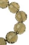 Șirag de mărgele din cristal cu pereți multipli 12 mm gaură 1 mm gri transparent ~ 50 bucăți