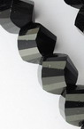 Наниз мъниста кристал 8x8 мм дупка 1 мм фасетиран черен ~ 72 броя