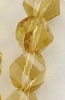 Наниз мъниста кристал 8x8 мм дупка 1 мм фасетиран прозрачен жълт ~ 72 броя