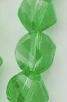 Наниз мъниста кристал 8x8 мм дупка 1 мм фасетиран прозрачен зелен ~ 72 броя