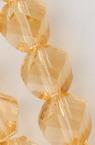 Наниз мъниста кристал 8x8 мм дупка 1 мм фасетиран прозрачен екрю ~ 72 броя