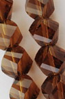 Наниз мъниста кристал 8x8 мм дупка 1 мм фасетиран прозрачен кафяв ~ 72 броя