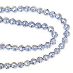 Наниз мъниста кристал многостен 8 мм дупка 1 мм галванизиран лилав светло дъга~72 броя