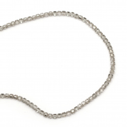 Наниз мъниста кристал топче 4~4.5 мм дупка 1 мм галванизиран матиран наполовина сив ~100 броя