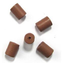 Tub lemn 20x15 mm gaură 3 mm maro -10 buc