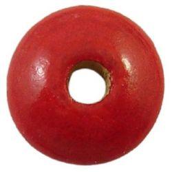 Диск дърво 2x4 мм дупка 1.5 мм червен -20 гр ~1100 броя
