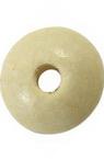 Диск дърво 3x11 мм дупка 3 мм бял -50 гр ~ 270 броя