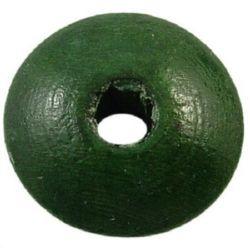 Диск 5x10 мм дупка 2 мм тъмно зелен -50 грама