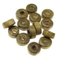 Шайба 6x3 мм дупка 2 мм кафява -50 грама