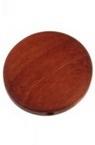 Кръг плосък дърво 30x5 мм дупка 2 мм цвят керемида -10 бр