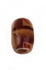 Wooden Beads, Oval with Printed Pattern 12 ~ 13x8mm, hole 3mm - 20g ~ 80pcs