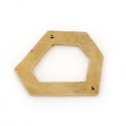 Figurina din lemn cu element decorativ pentru decorare 52x38x5 mm gaura 1,5 mm culoare lemn -2 buc