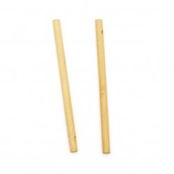 Element de legatura lemn pentru decor 105x6 mm gaura 3 mm culoare lemn -5 piese